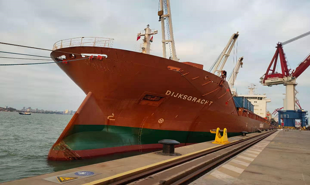 Whole ship lashing service for Dutch ship owners in two Chinese loading ports